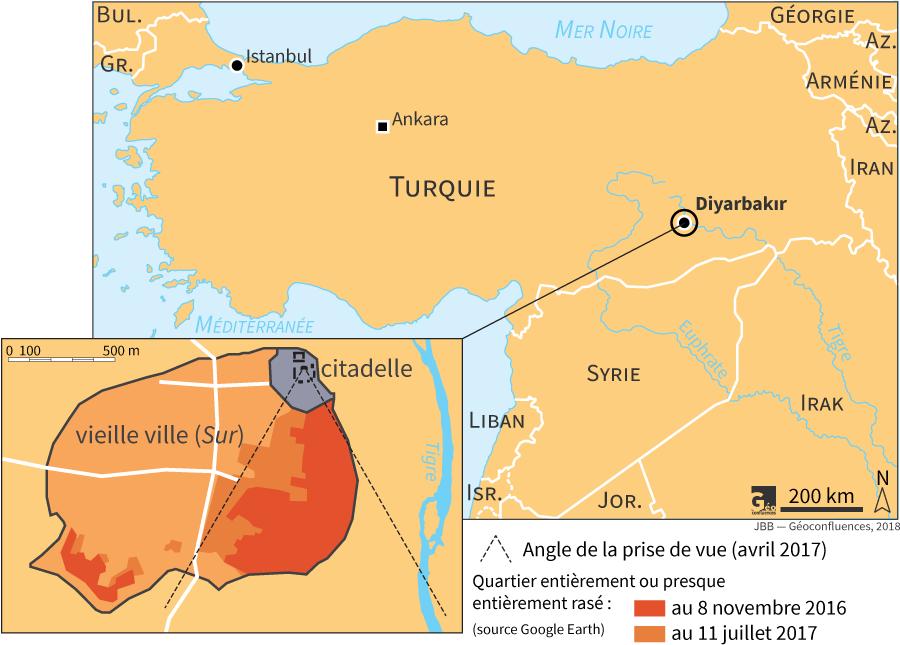 Localisation Diyarbakir Turquie carte
