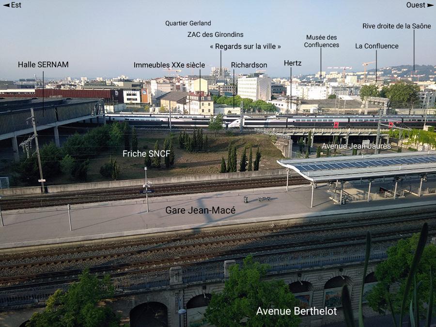 Lyon Sud vu depuis Jean Macé