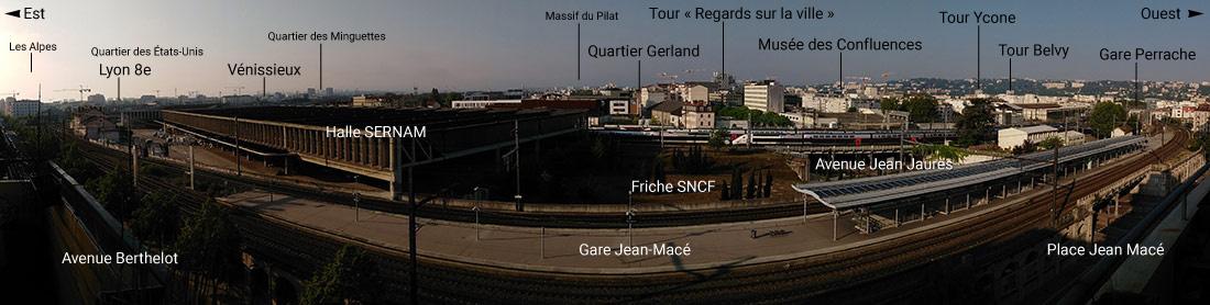 Panorama sud de Lyon depuis Jean Macé