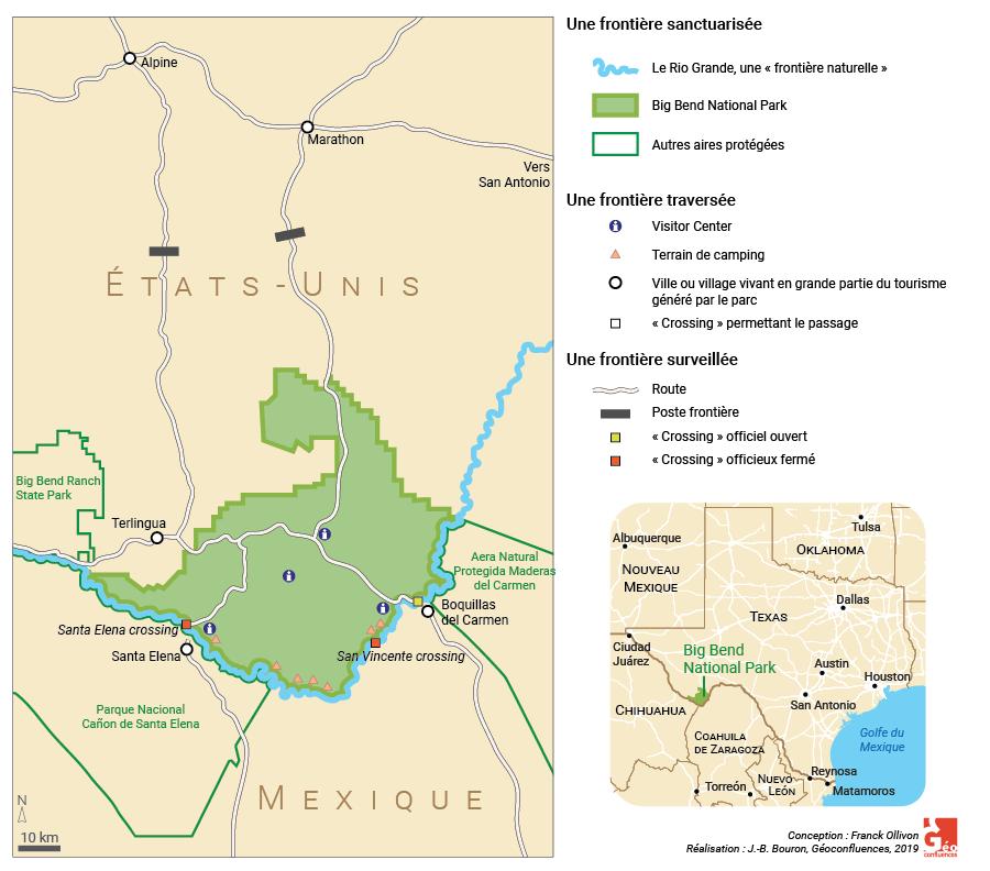 Franck Ollivon et Florence Nussbaum — frontière états-unis mexique carte