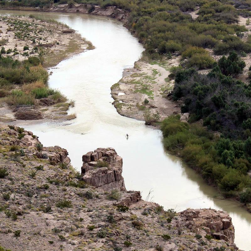 Franck Ollivon et Florence Nussbaum — frontière états-unis mexique photo