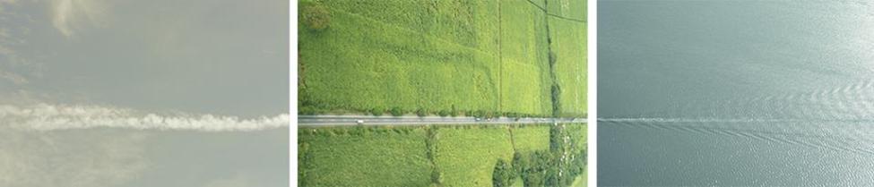 Triptyque photographique de Ronald Morán Opciones para escapar a un lugar más seguro (2007)