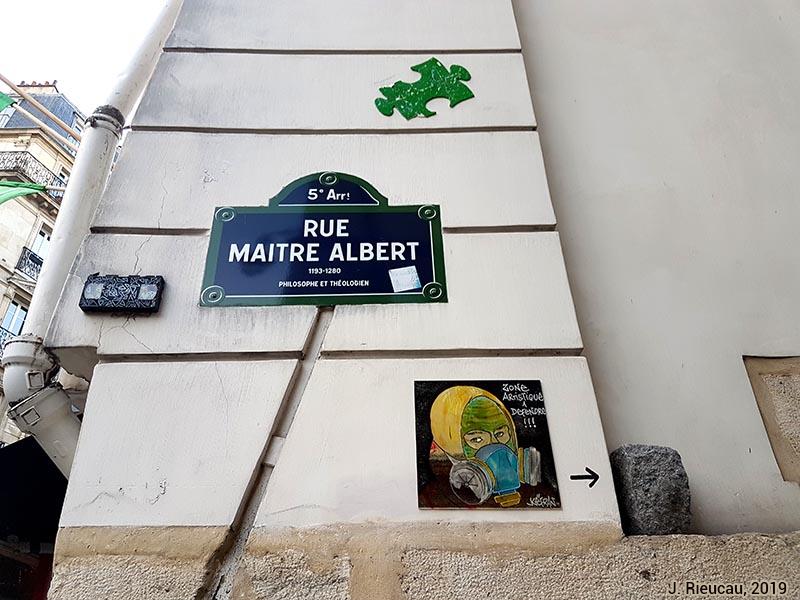 Jean Rieucau - Odonymie et art de rue / Maître-Albert Kefran