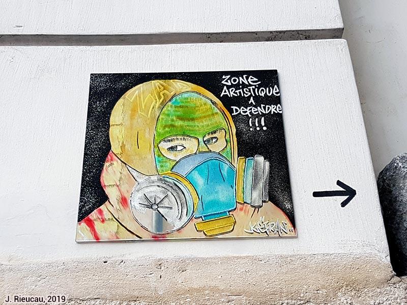 Jean Rieucau - Odonymie et art de rue / Maître-Albert Kefran (détail)