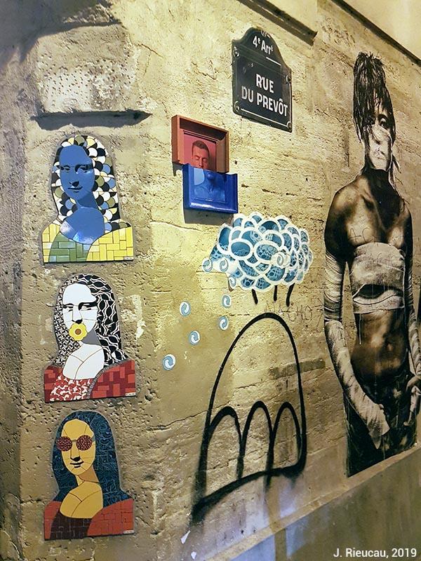 Jean Rieucau - Odonymie et art de rue / rue du Prevot joconde
