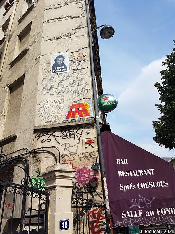 Jean Rieucau - Odonymie et art de rue / John Hamon et tags
