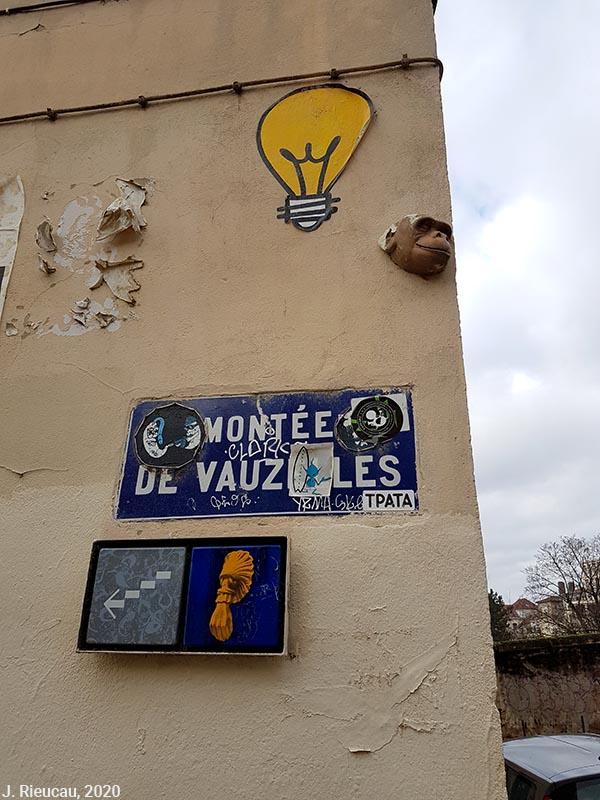 Jean Rieucau - Odonymie et art de rue / montée de vauzelle chimpanzé