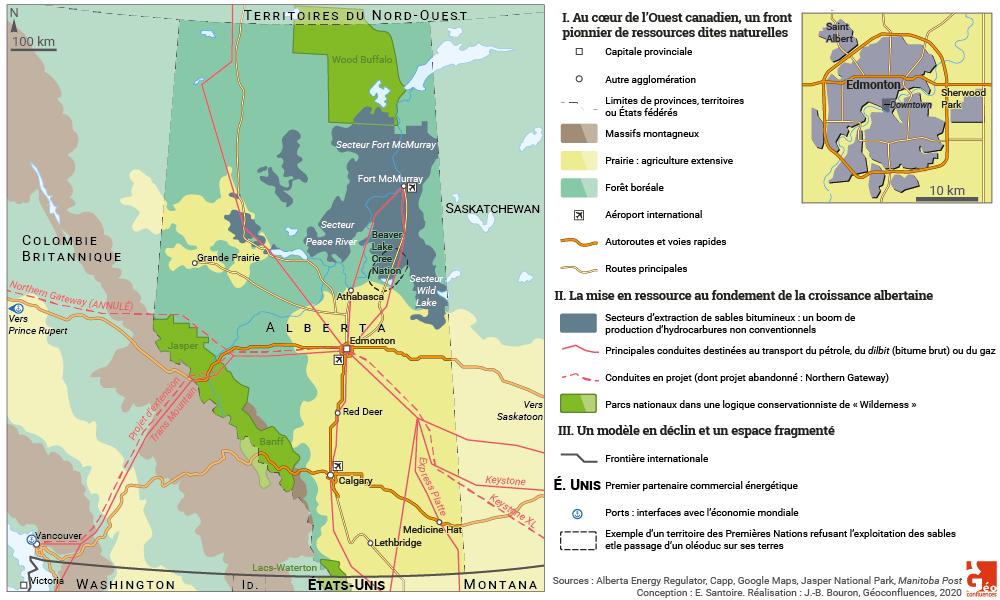 Emmanuelle Santoire — Alberta Edmonton gaz de schiste parcs nationaux autoroutes oléoducs