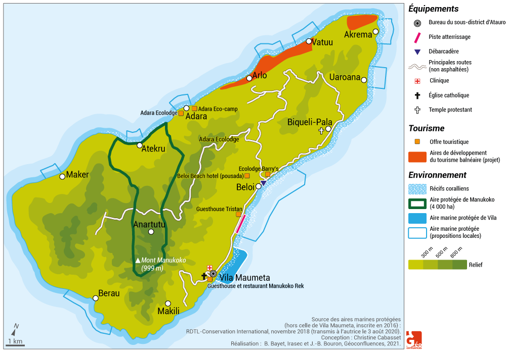 tourisme atauro timor oriental développement