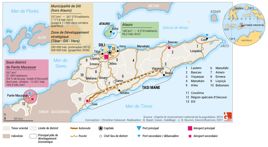 Christine Cabasset — Timor Leste carte map
