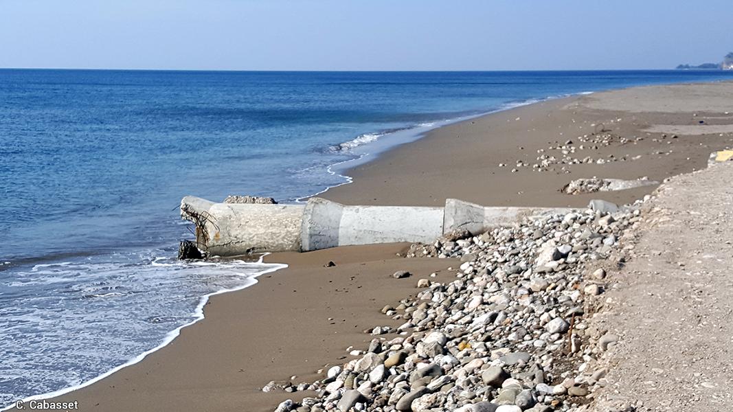 Christine Cabasset — photographie rejet des eaux usées dans la mer