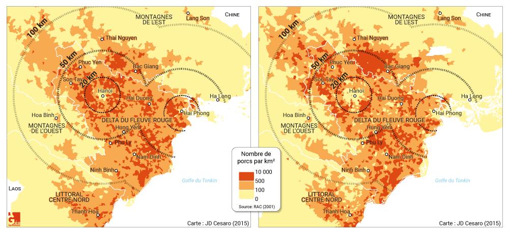 Jean-Daniel Cesaro —densité de porcs autour des agglomérations