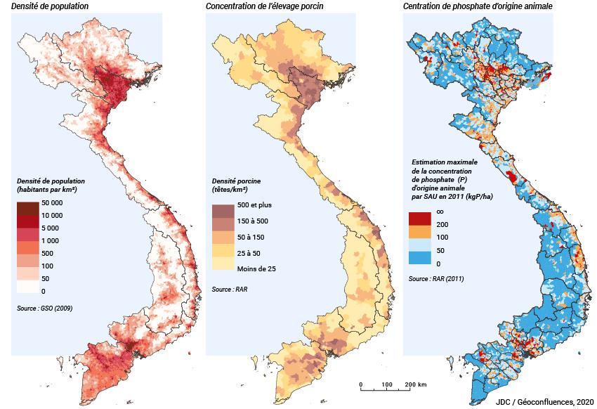 Jean-Daniel Cesaro — densité population vietnam + élevage porcin + pollution des sols