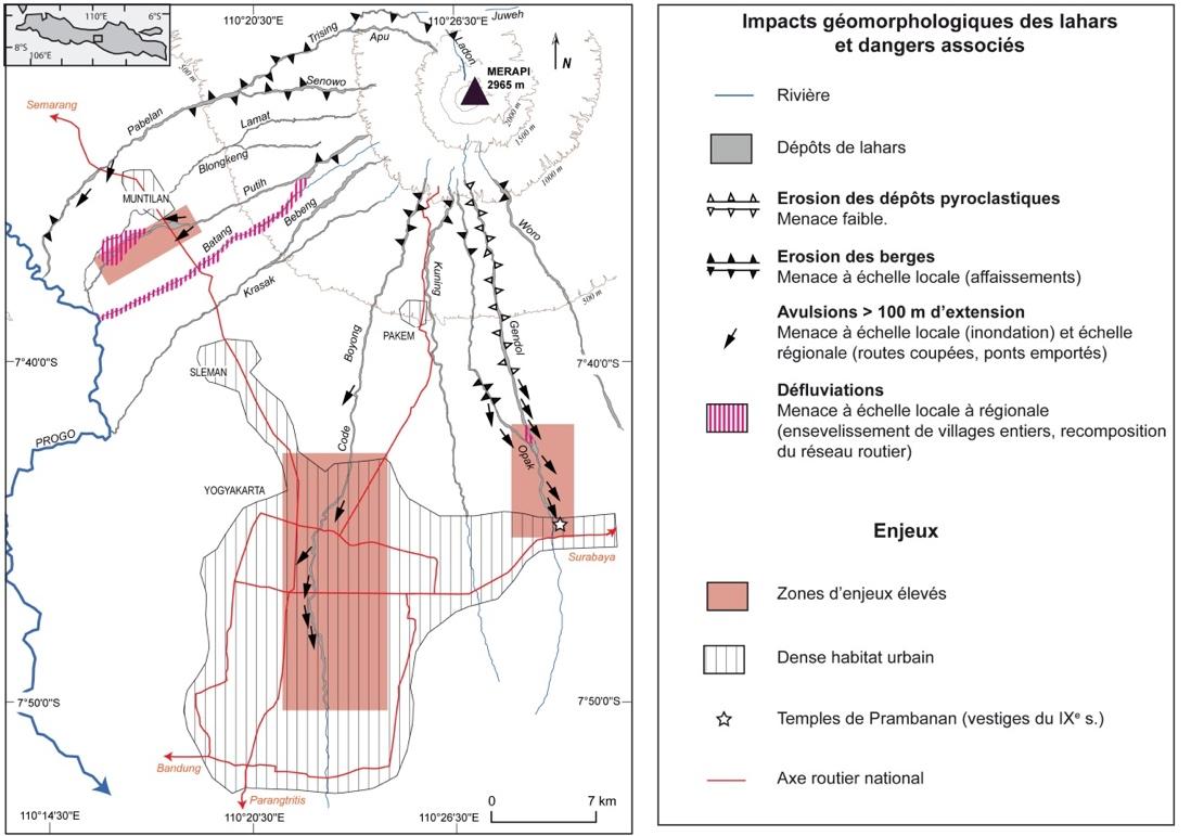 Édouard de Bélizal — schéma risques liés aux lahars merapi