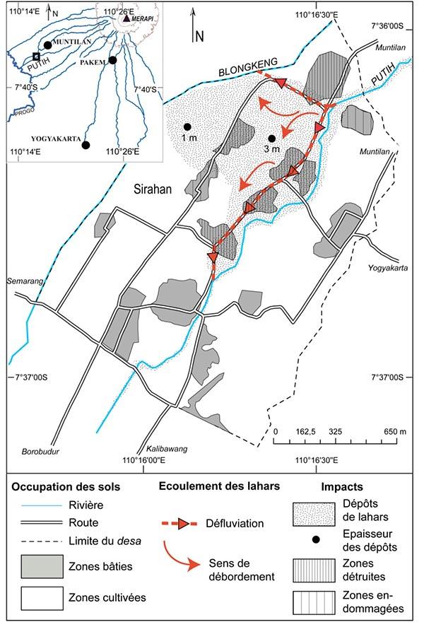Édouard de Bélizal — défluviation due aux lahars schéma