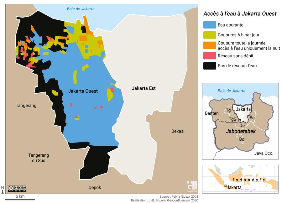 Jakarta inégalités pauvreté accès à l'eau