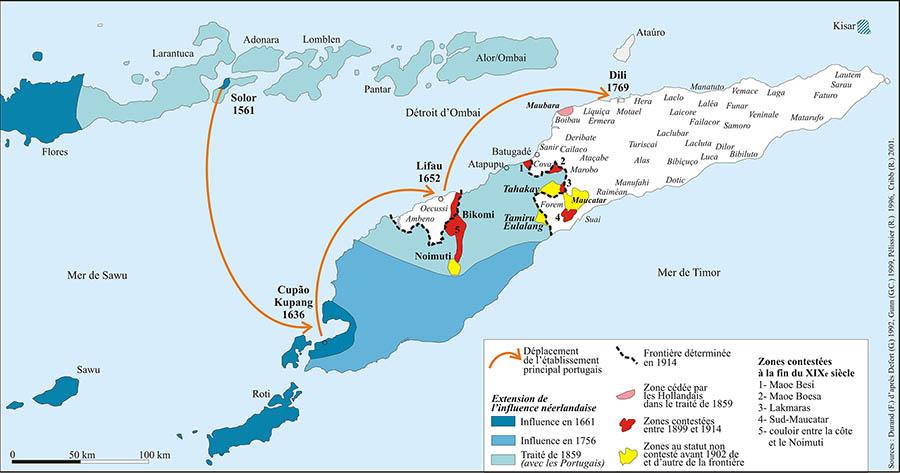 Frédéric Durand — Carte Timor histoire