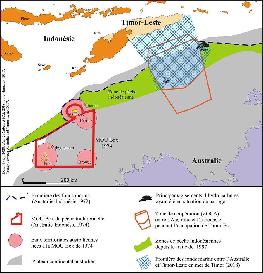Frédéric Durand — Carte Timor contestations frontières maritimes