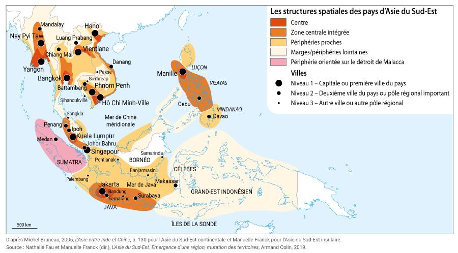 centres et périphéries asie du sud est carte