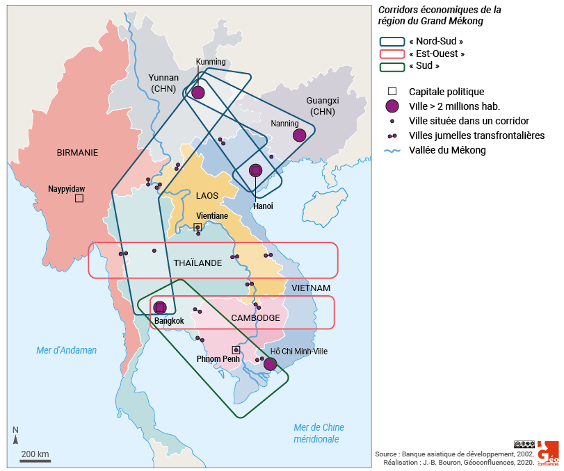 asie du sud est corridors économiques