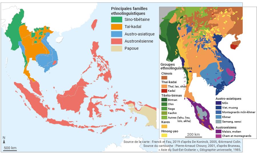 langues et familles ethnolinguistiques