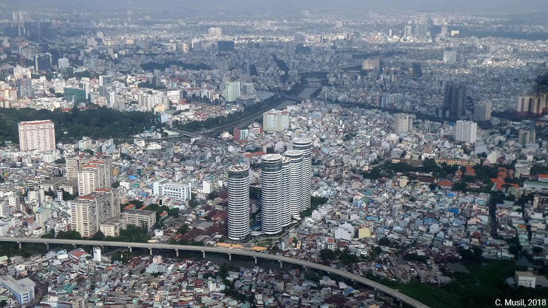 photographie paysage skyline Ho chi minh ville