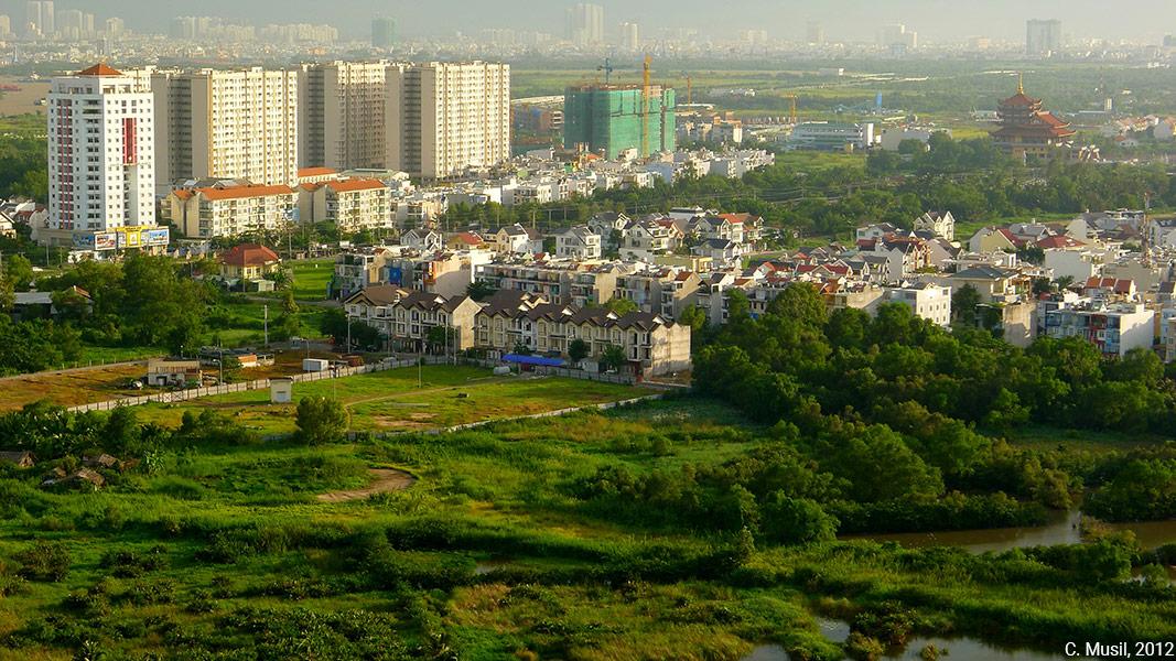 photographie paysage méga projet urbain Ho chi minh ville