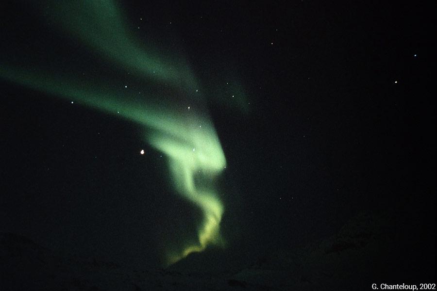 aurores boréales — Gilles Chanteloup, 2002, Nunavut.