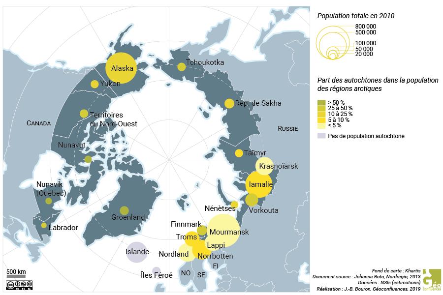 populations autochtones régions arctiques carte
