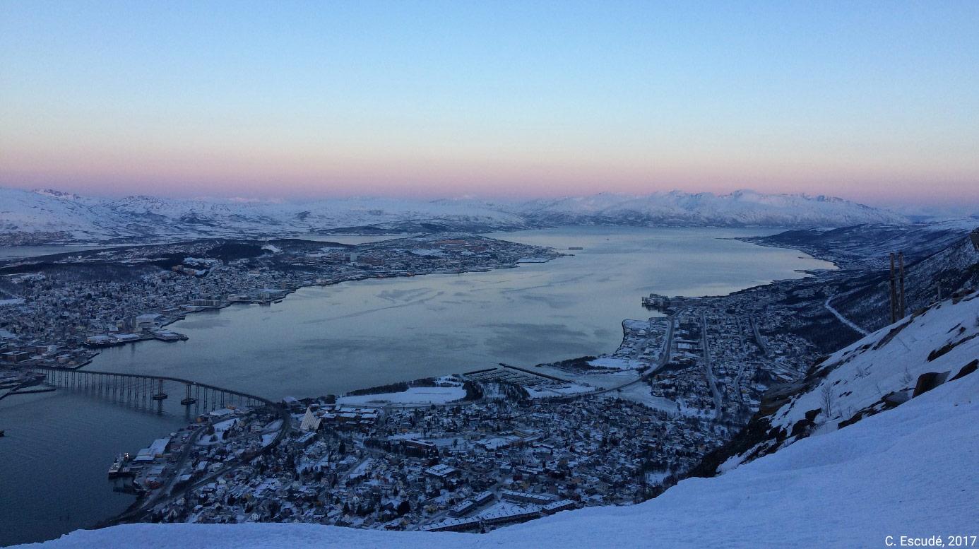 Camille Escudé-Joffres — Tromso, Arctique norvégien, 13h en janvier 2017