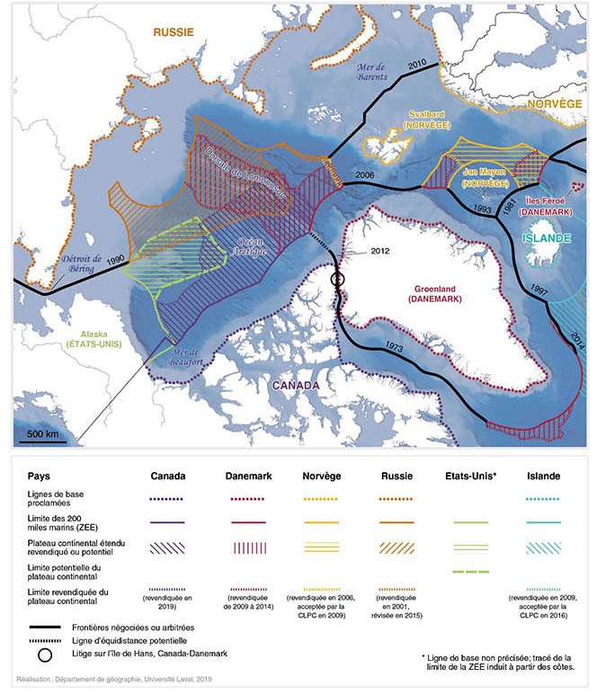 Frédéric Lasserre — Contestations des espaces maritimes arctiques