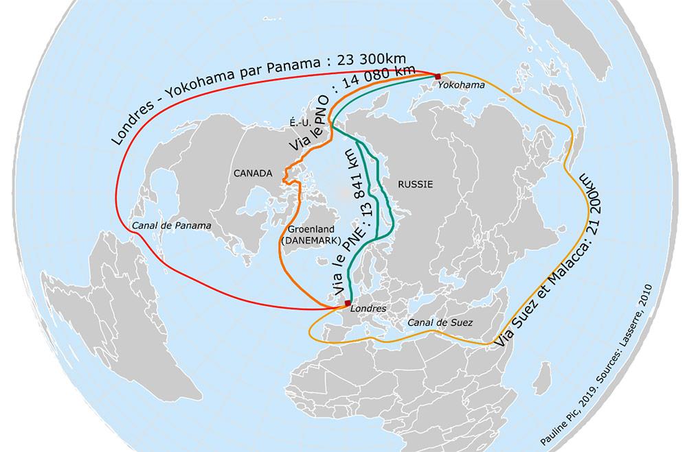 Comparaison de grandes routes commerciale