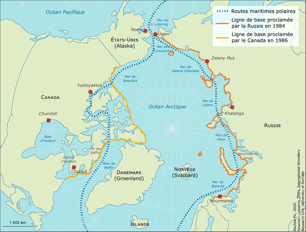 Les détroits des routes maritimes polaires: un statut contesté