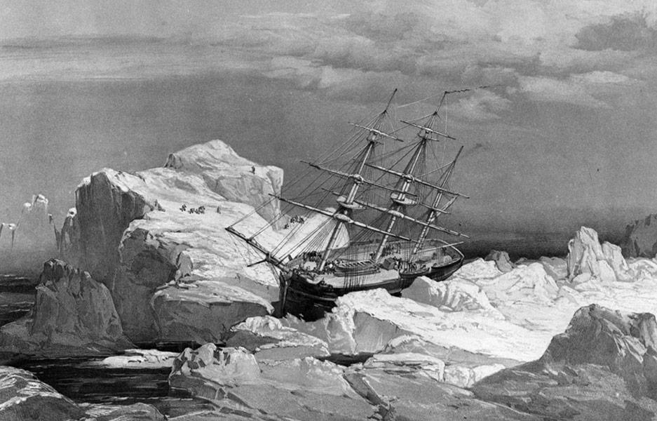 Le HMS Investigtor, parti à la recherche des deux navires de l'expédition Franklin disparu