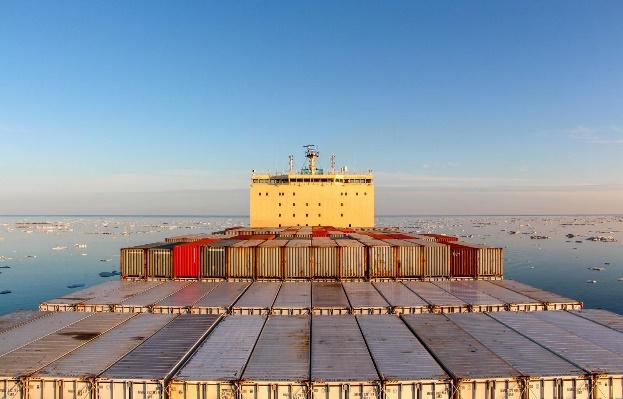 . Le Venta, Porte Conteneur de Maersk, qui a transité dans le PNE à l'été 2018