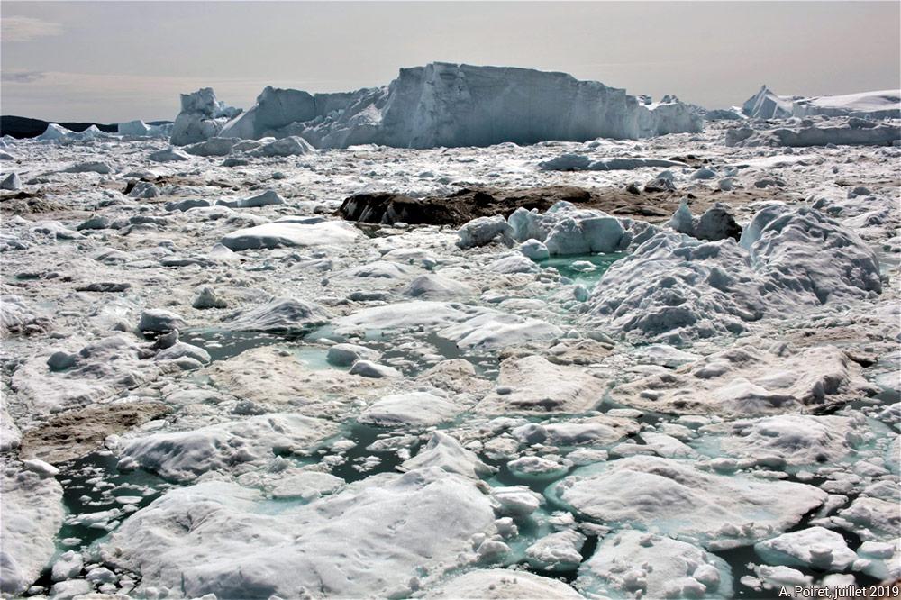 Banc d'icebergs à Ilulissat