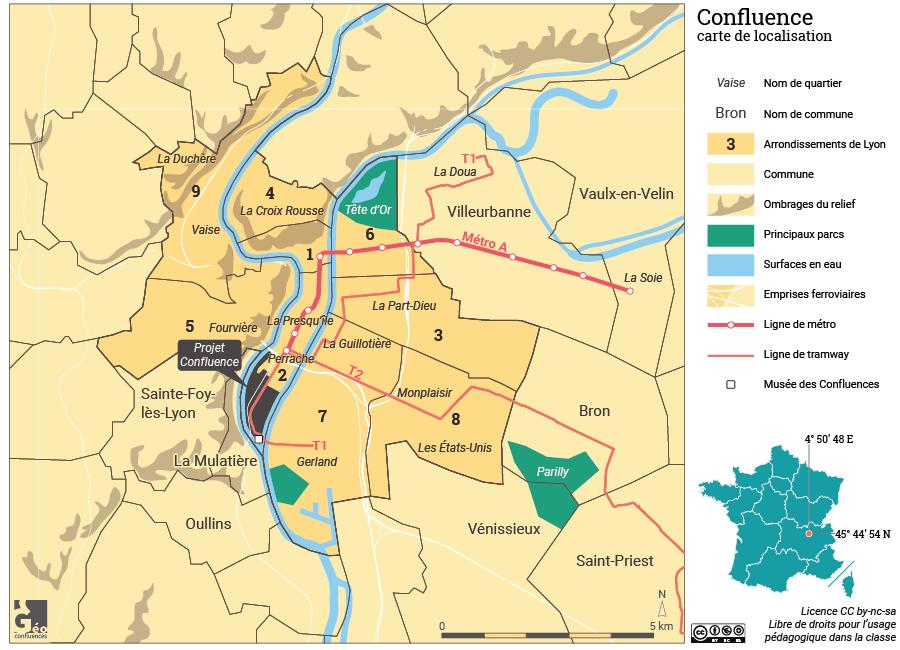 Atlas de Lyon — carte de localisation Confluence