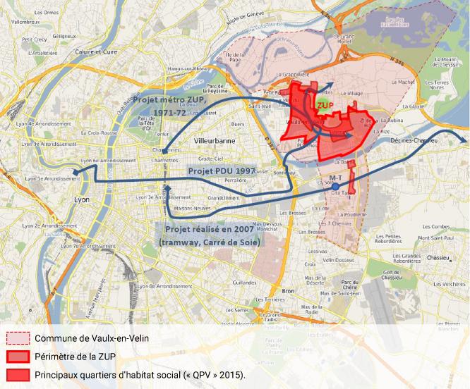 Antoine Lévêque — Éloignement progressif des projets d'infrastructure de transport à Vaulx-en-Velin des grands quartiers d'habitat social (1970-2007)