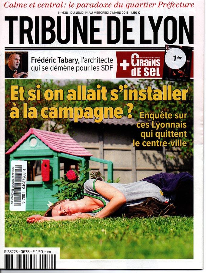 Une de la Tribune de Lyon: et si on allait s'installer à la campagne ?