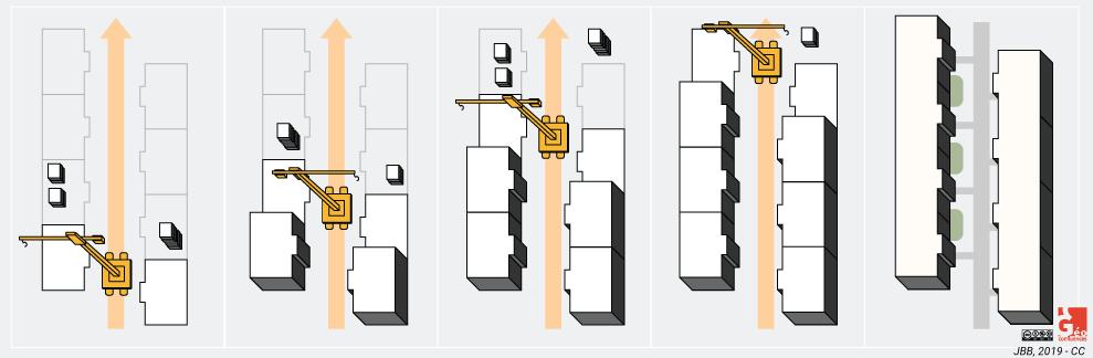 schéma technique du chemin de grue