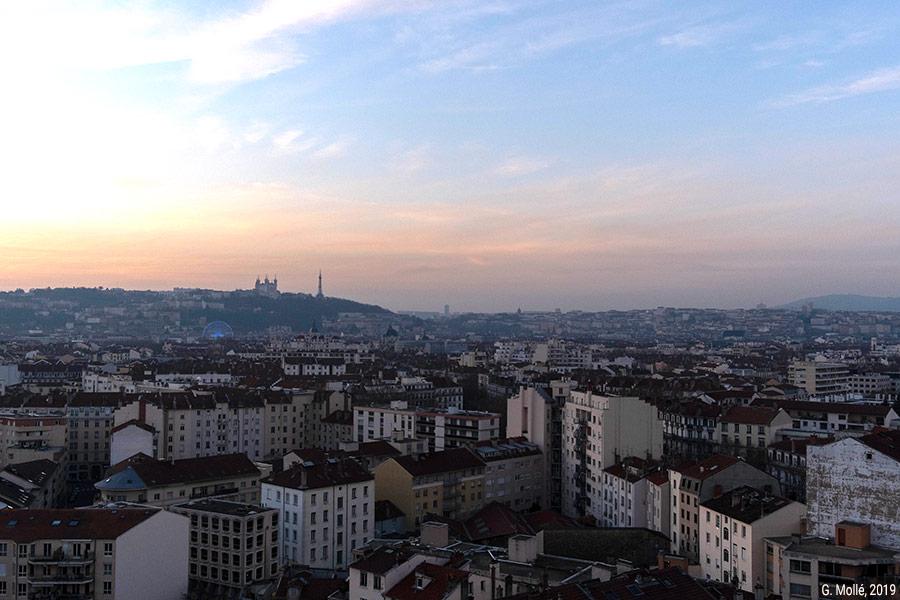 Geoffrey Mollé — photographie vue de Lyon depuis le 17e étage
