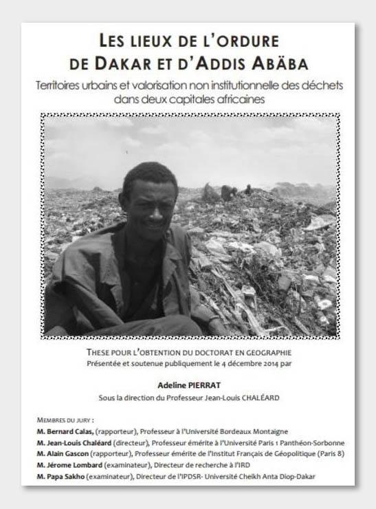 Adeline Pierrat - Les lieux de l'ordure de Dakar et d'Addis Abeba 2014 couverture