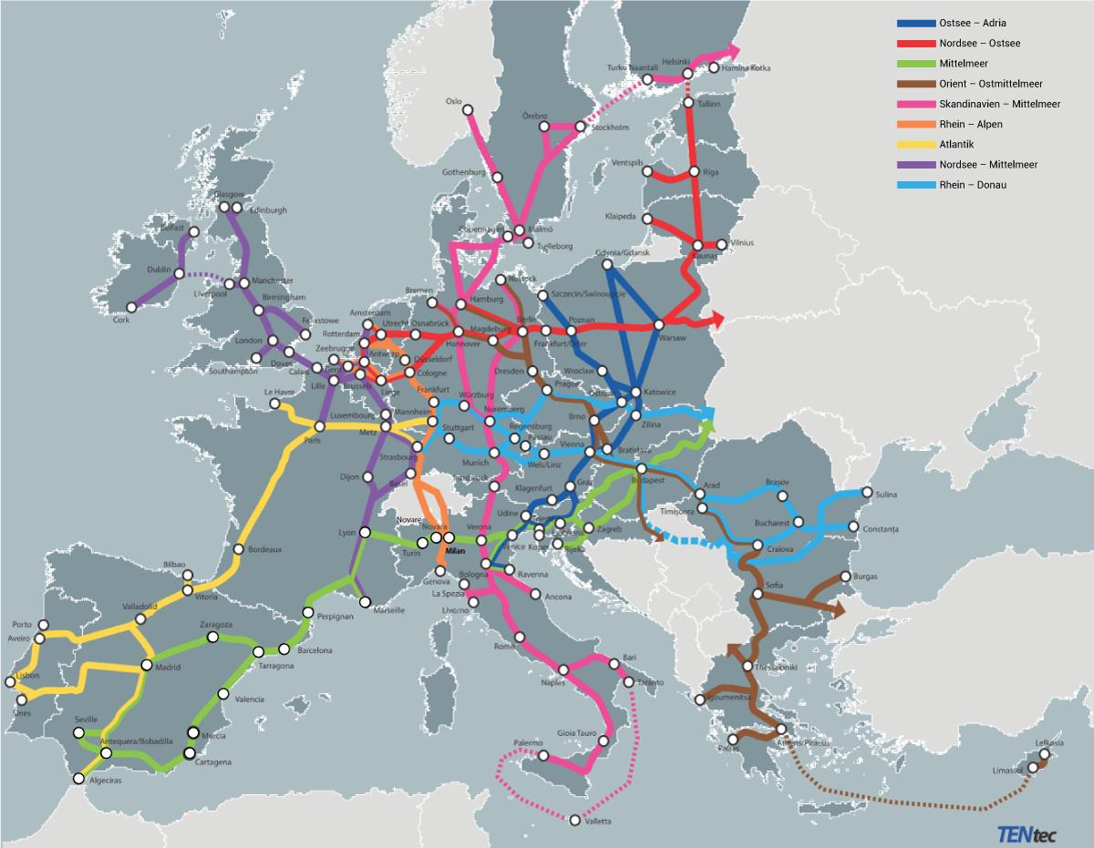 Corridors européens de transport