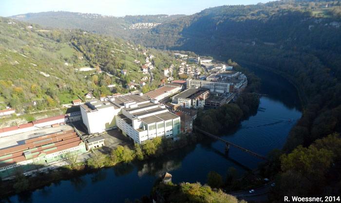 Raymond Woessner — usine Rhodia et boucle du Doubs à Besançon