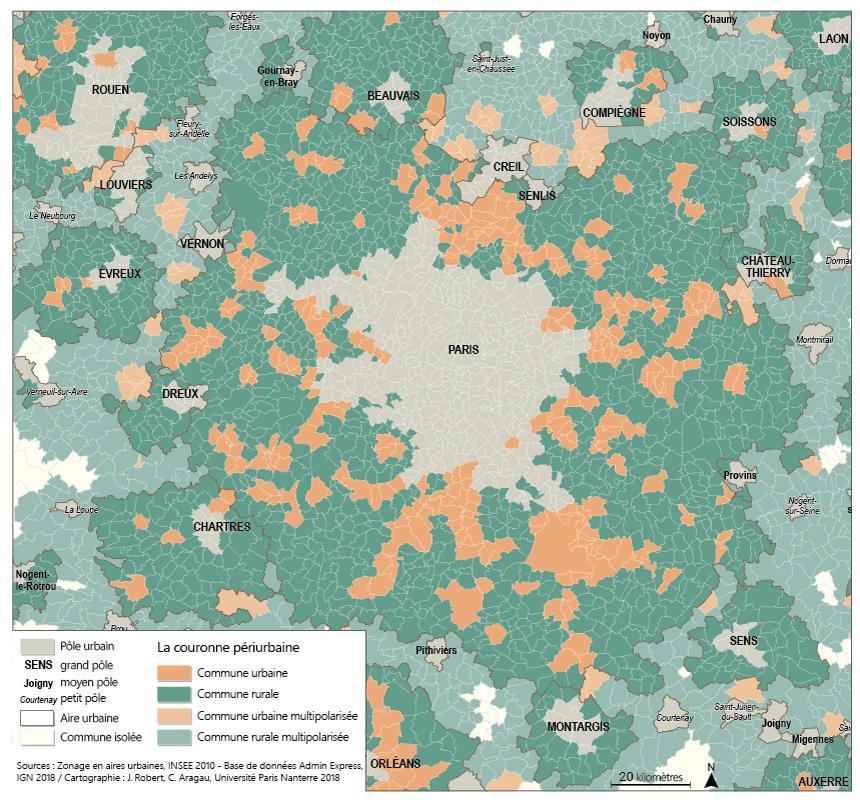 Claire Aragau Julie Robert — communes rurales et urbaines dans la couronne périurbaine de Paris
