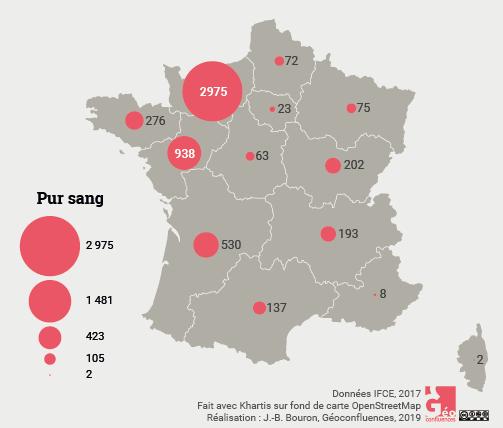 Maie Gerardot – Pur-sang Français carte France naissances