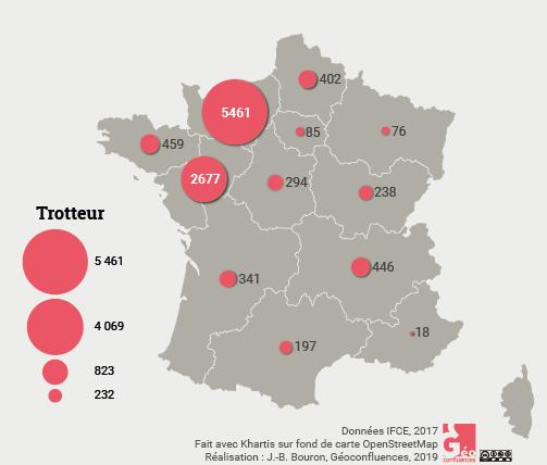 Maie Gerardot – Trotteur carte France naissances