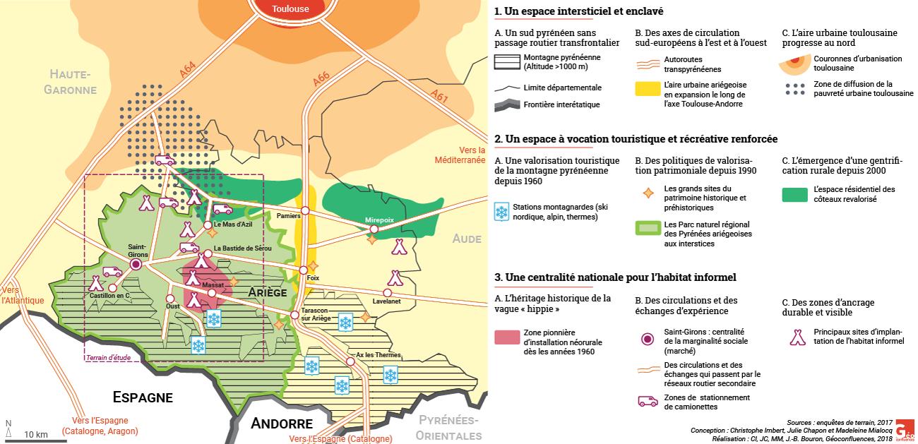 Christophe Imbert, Julie Chapon, Madeleine Mialocq — Croquis habitat informel ariège