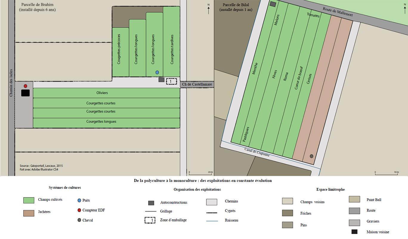 Anne Lascaux — carte 2 parcelles agricoles