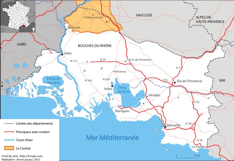 Anne Lascaux - carte localisation